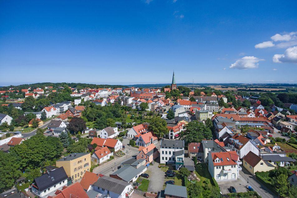 Blick auf die Stadt Bergen