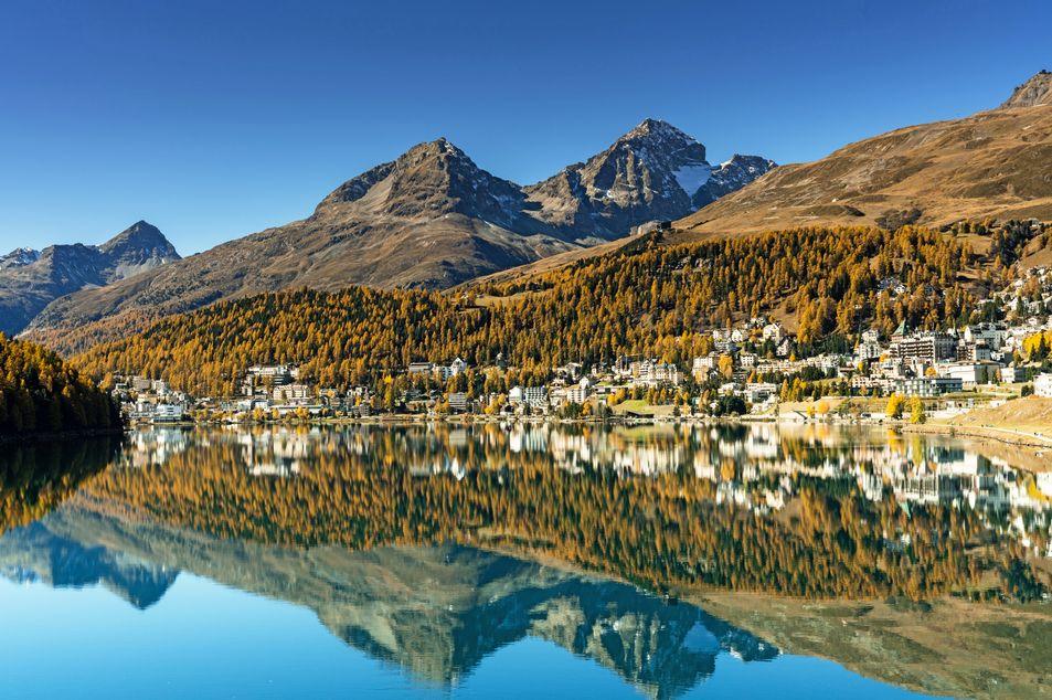 Sicht auf St. Moritz