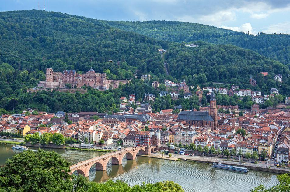 Vue de la ville et du château de Heidelberg