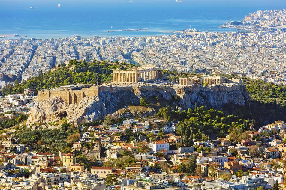Athènes en voyage interville
