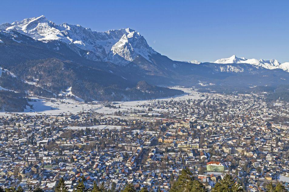 Garmisch-Partenkirchen im Winter