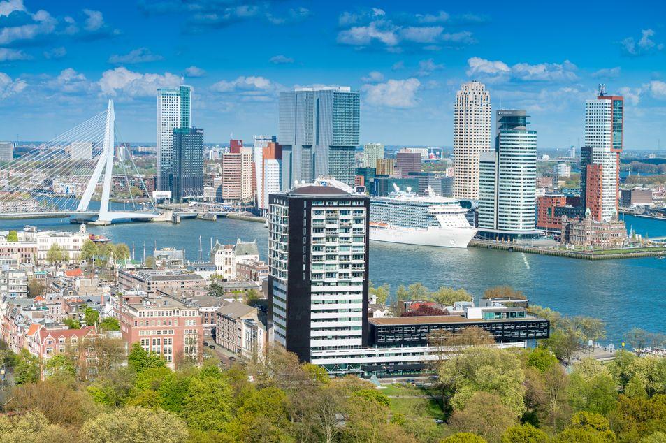 Sicht auf Rotterdam