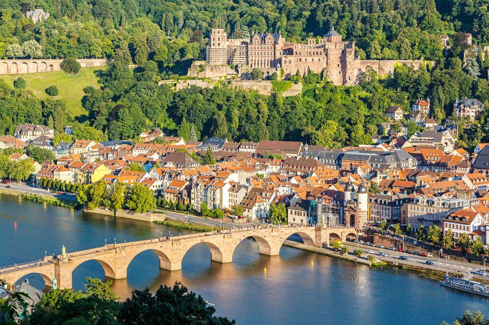 Aussicht auf das Schloss Heidelberg und die Stadt