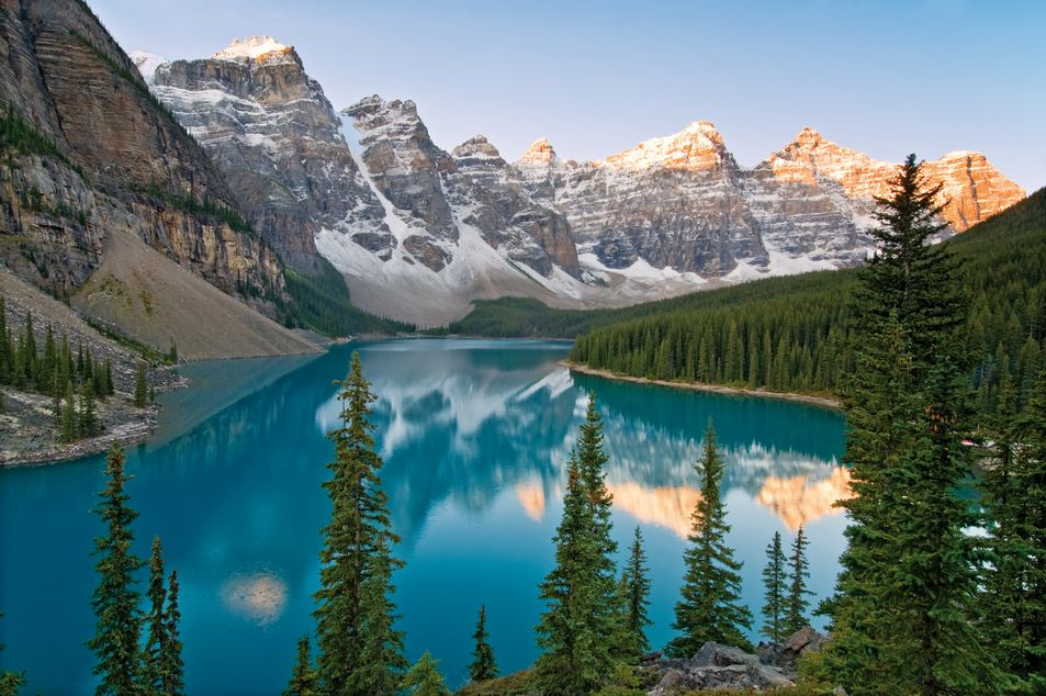 Moraine Lake, Banff-Nationalpark, Alberta
