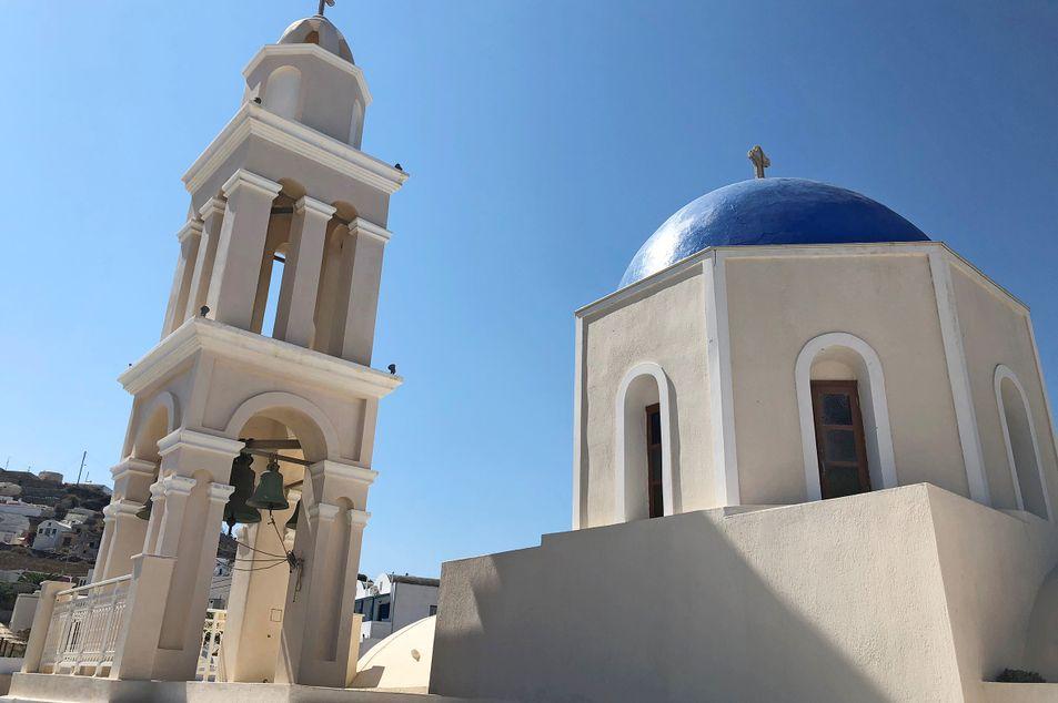 Die Kirche im Dorf Akrotiri
