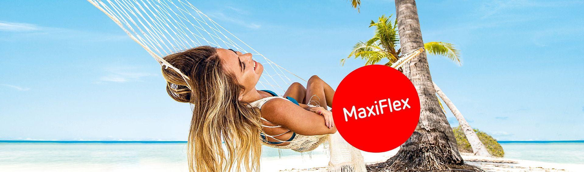 MaxiFlex – bis 21 Tage vor Abreise kostenlos stornieren