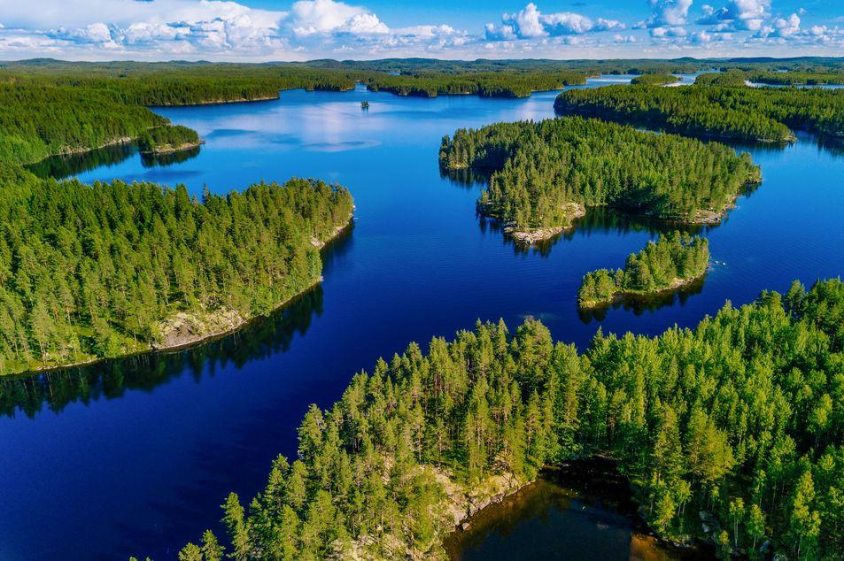 Finnlands Seelandschaft