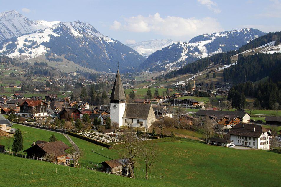 Gstaad vue d'en haut
