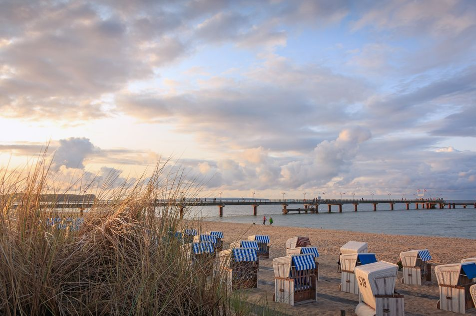 Blick auf den Strand und die Seebrücke