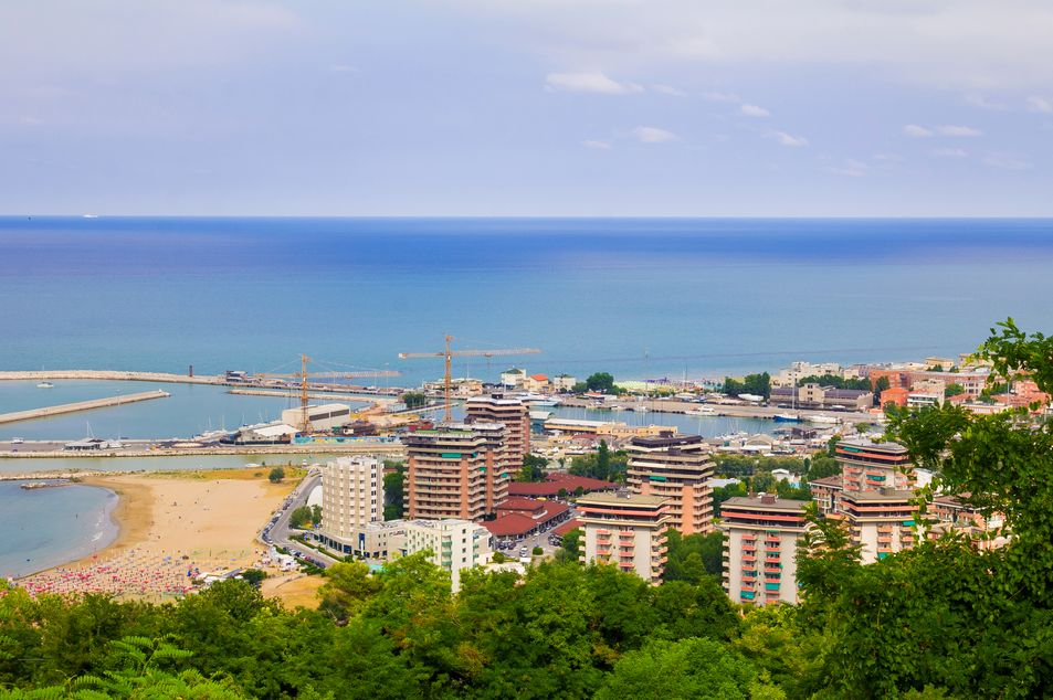 Blick auf Pesaro
