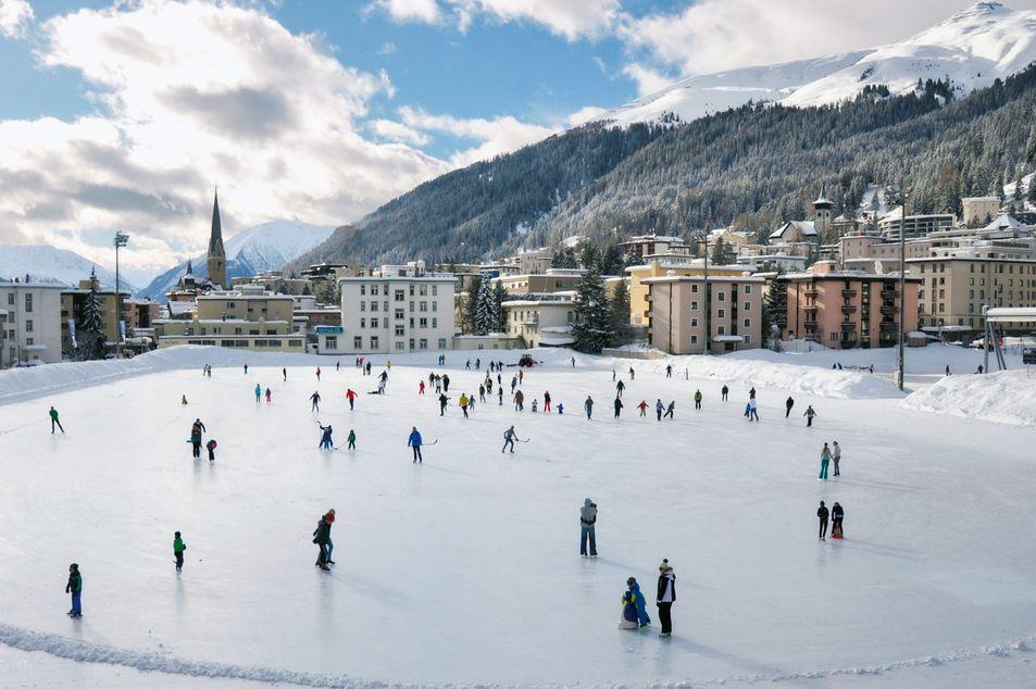 Patinoire à Davos