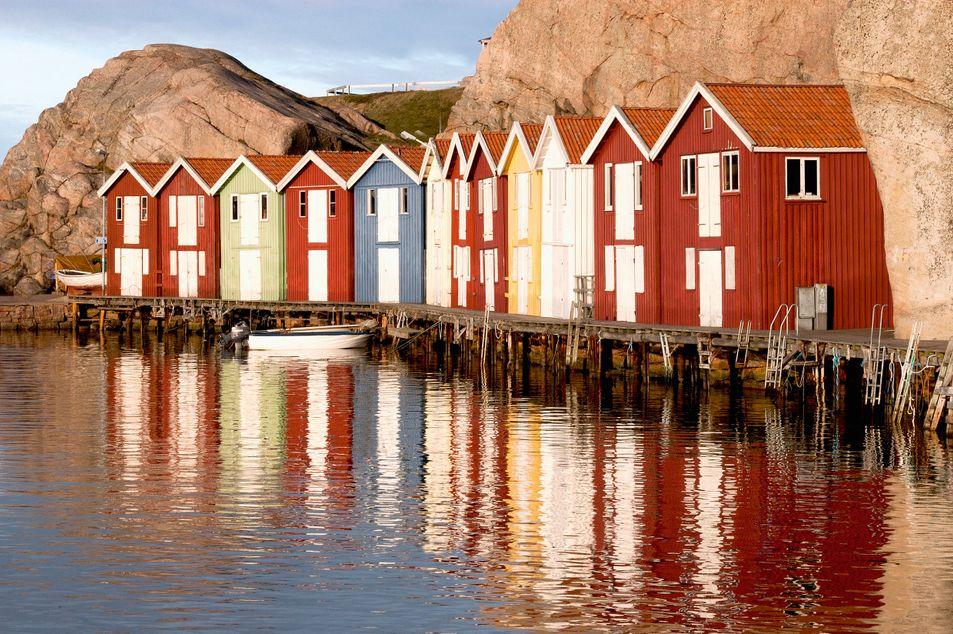 Häuser in Smögen, Västra Götalands län