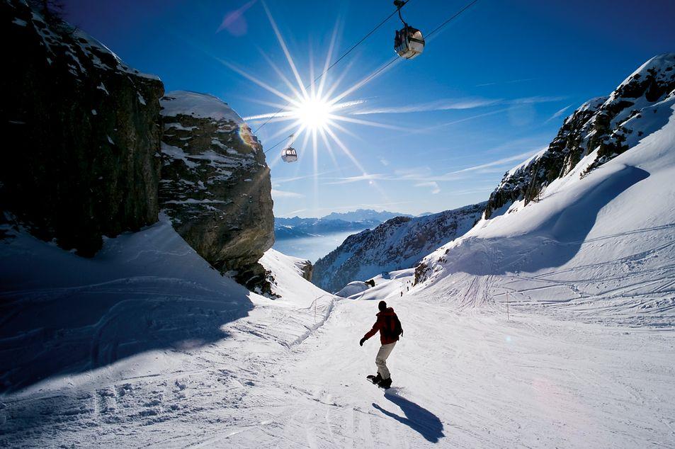 Snowboard à Crans-Montana