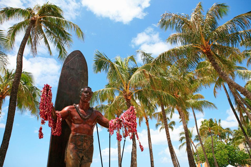 Statue von Duke Kahanamoku