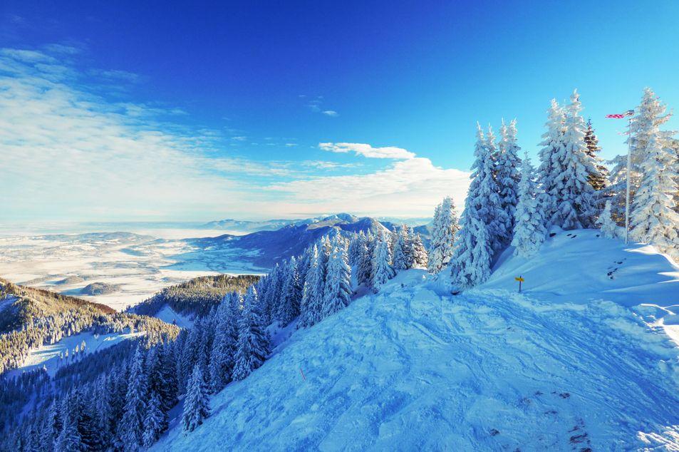 Le massif d'Ammer en hiver