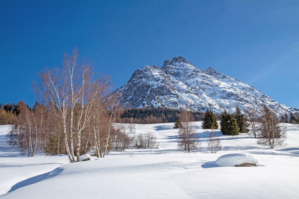 Piz Pisoc im Winter