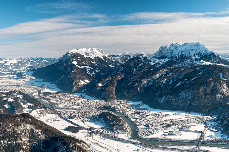Blick über Kufstein im Winter