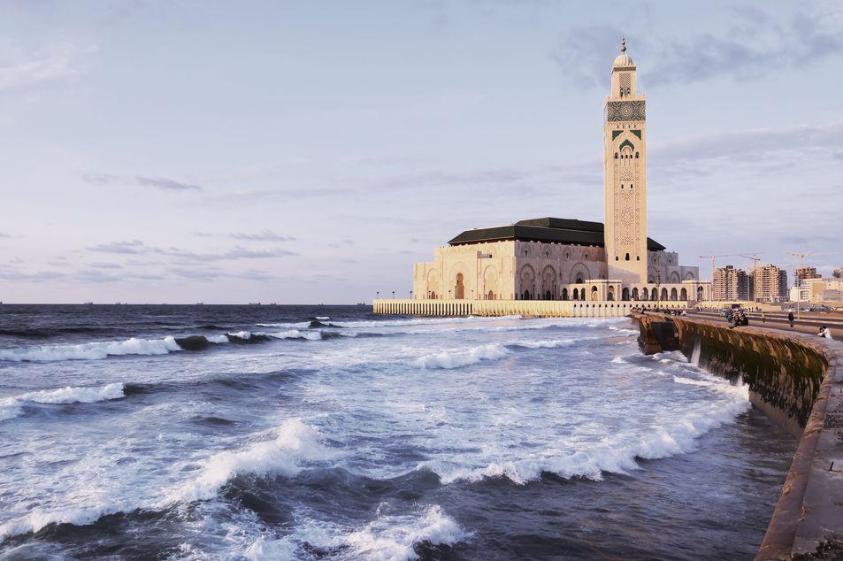 Atlantik und Hassan-II.-Moschee