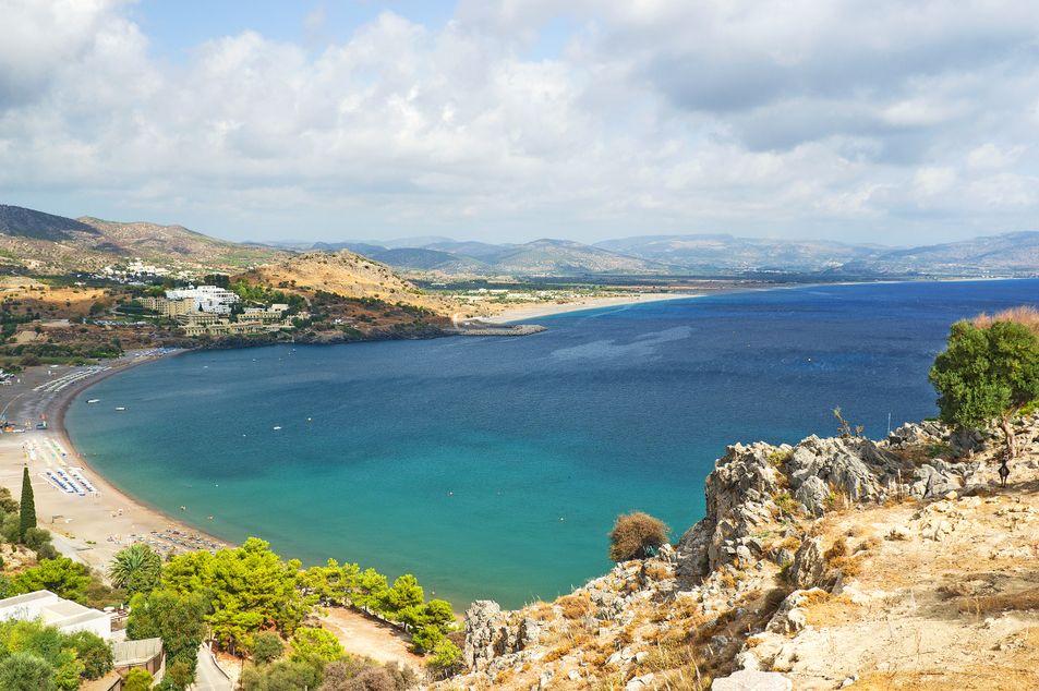 Vue sur la plage Vlicha Beach à Kalathos