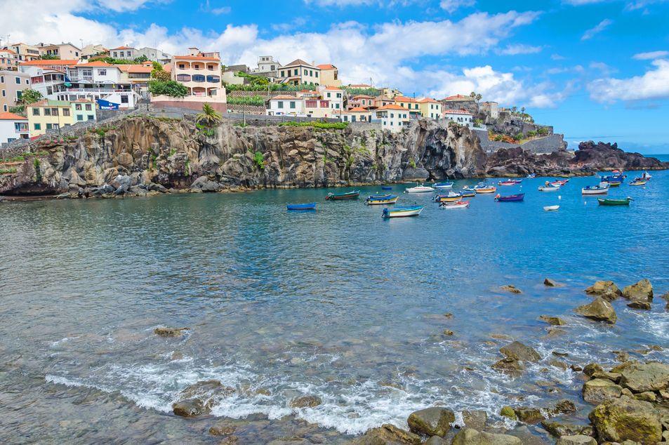 Blick auf die Bucht Camara de Lobos