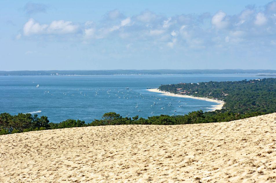 Aussicht von der Dune du Pilat auf Cap Ferret