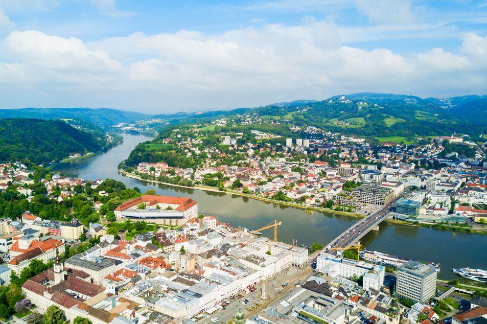 Vue panoramique de la ville de Linz